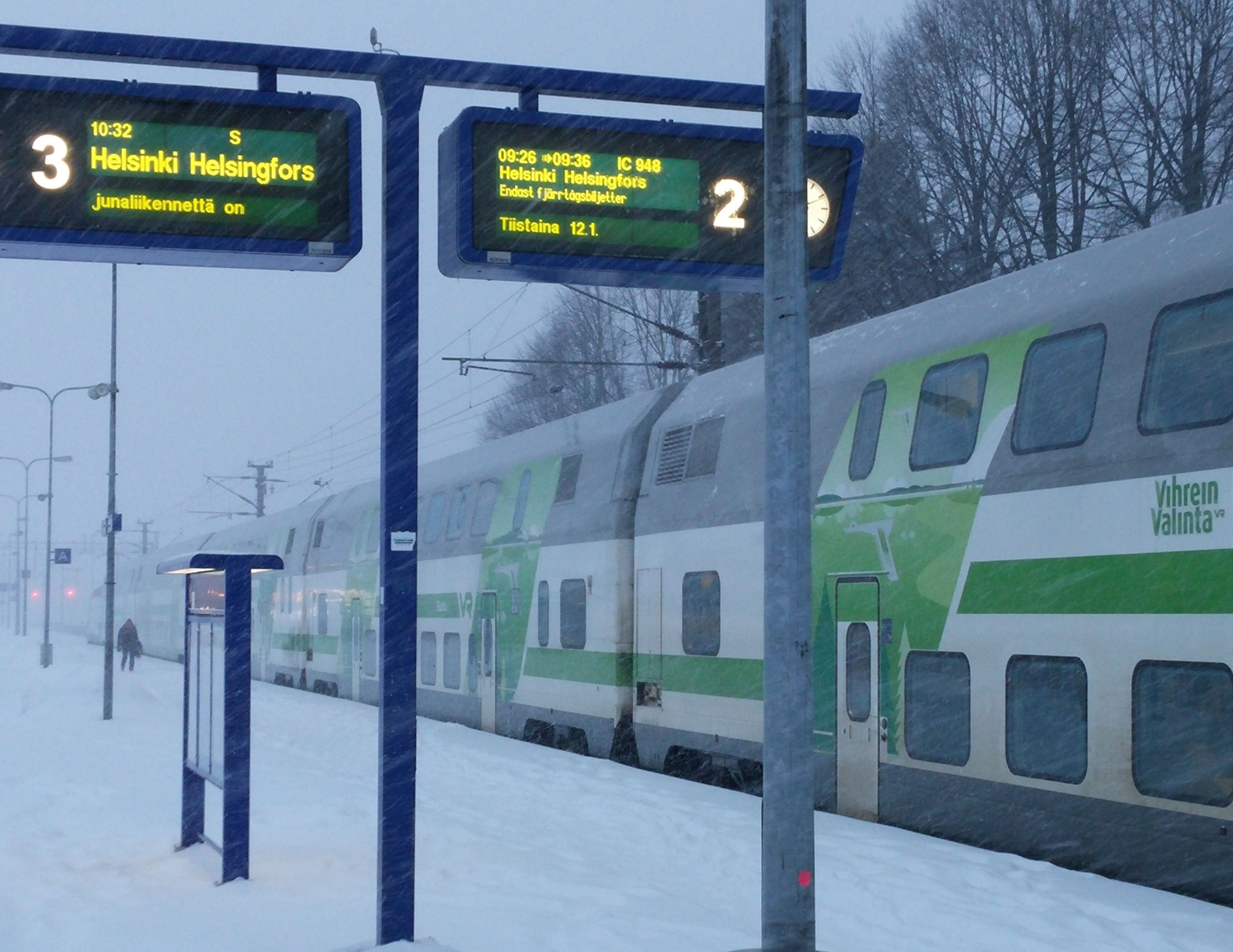 Kirkkonummi Helsinki Juna