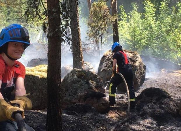 Metsäpalovaroitus Grillaaminen